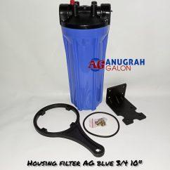 Housing Filter AG Blue 3/4 10″